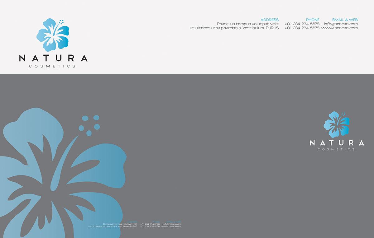 قالب هویت بصری سازمانی Natura