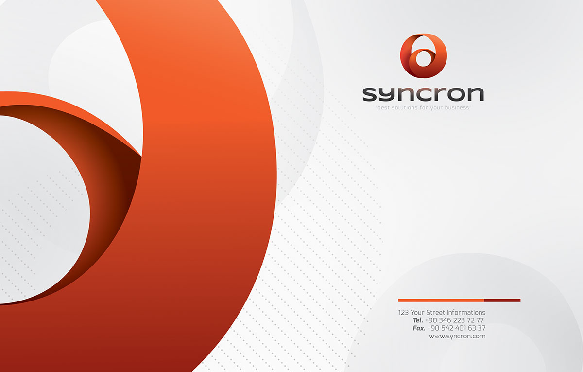 قالب هویت بصری سازمانی Syncron