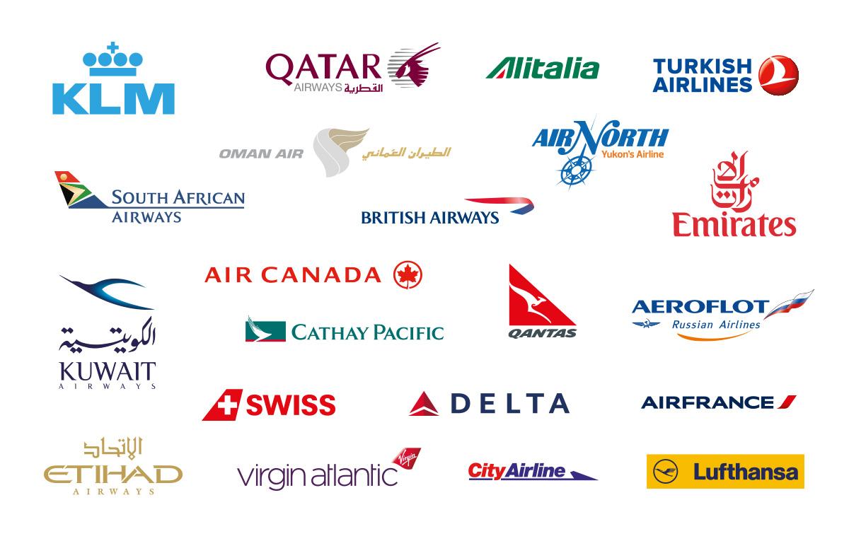 لوگو شرکتهای هواپیمایی بین المللی