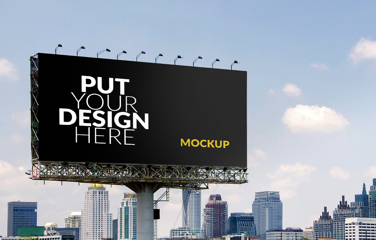 ماکاپ بیلبورد Cityview