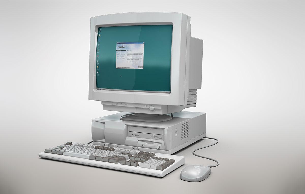 ماکاپ کامپیوتر قدیمی Oldpc