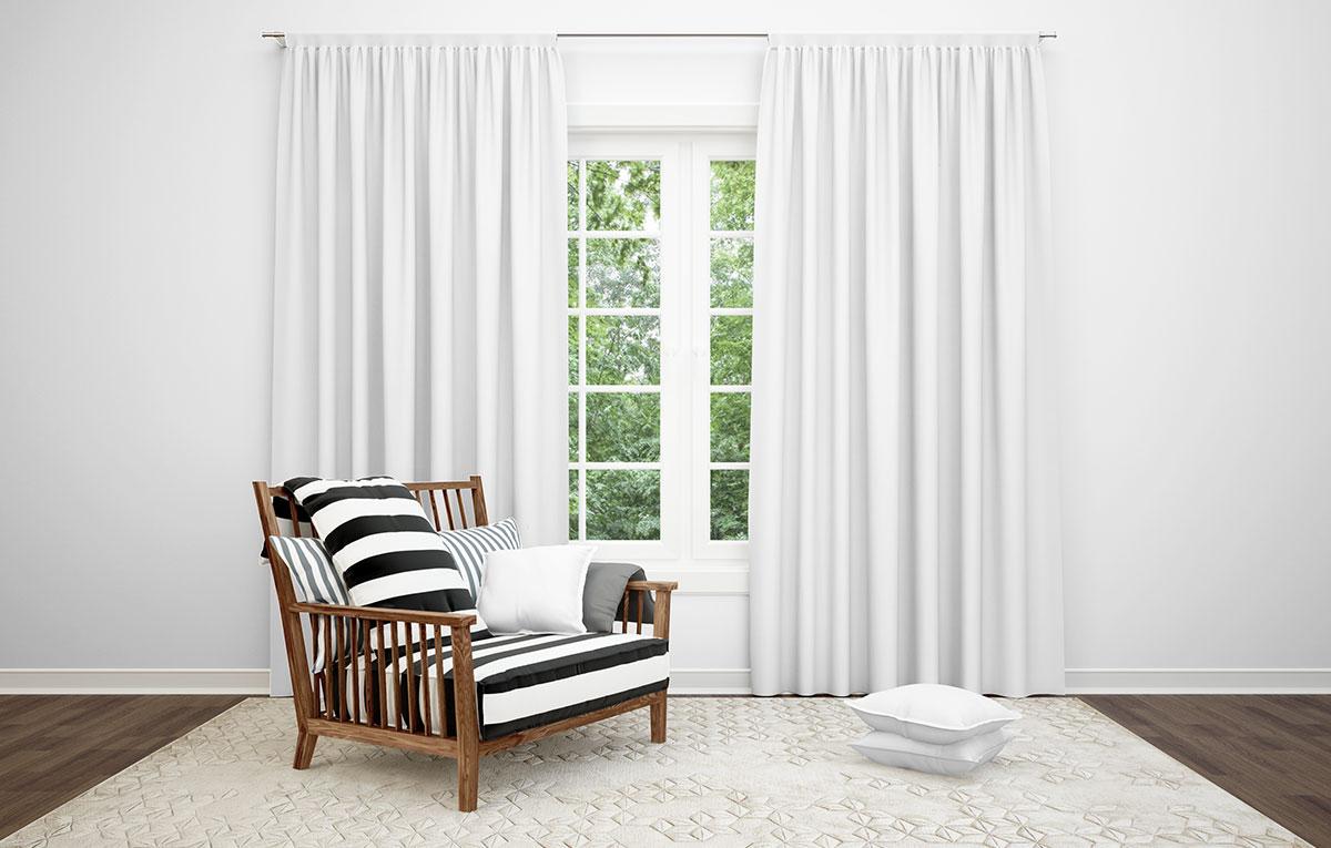 ماکاپ دکوراسیون داخلی Curtains