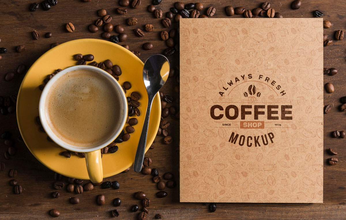 ماکاپ لوگو و آرم Freshcoffee
