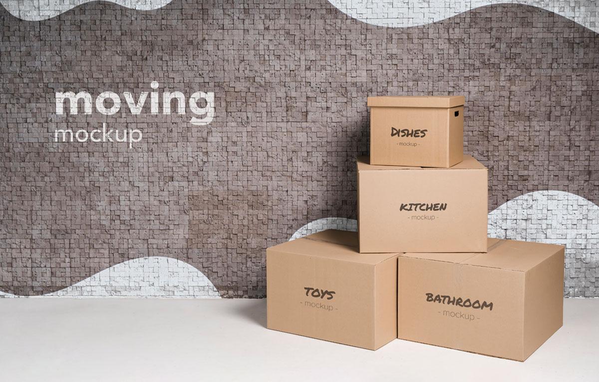 ماکاپ بسته بندی | جعبه - رایگان