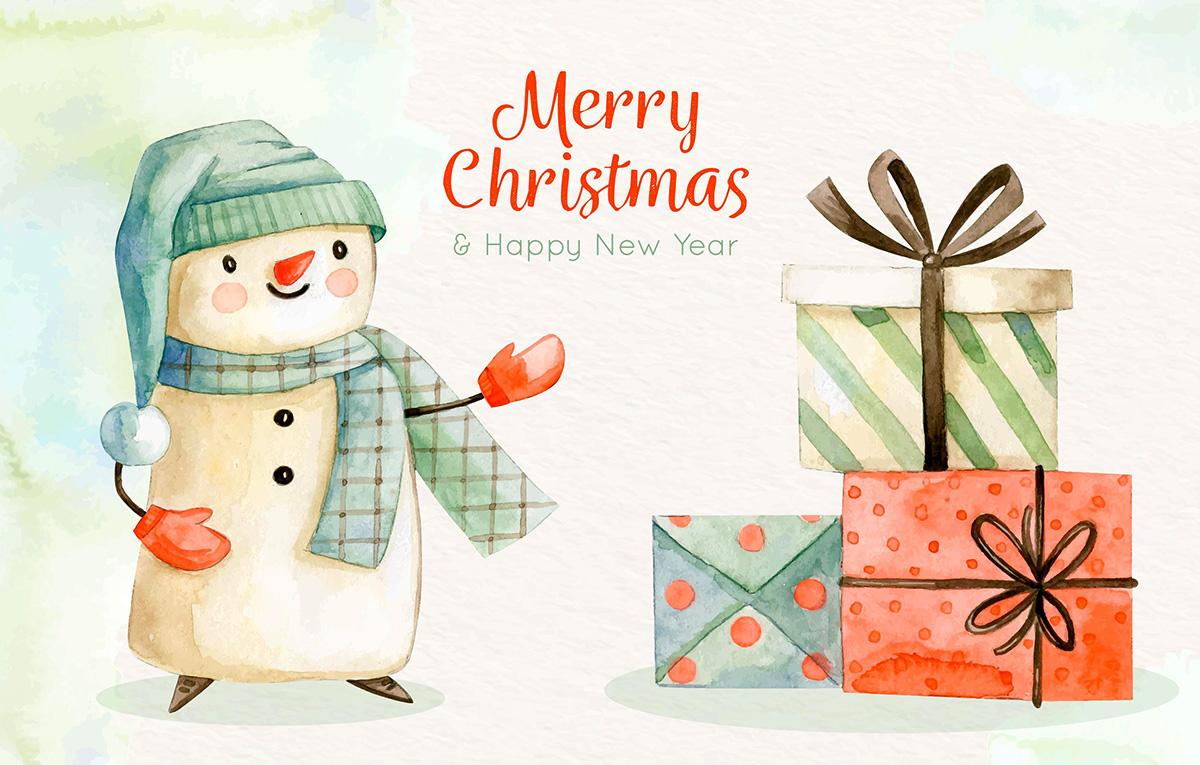 قالب آماده تبریک عید کریسمس - رایگان