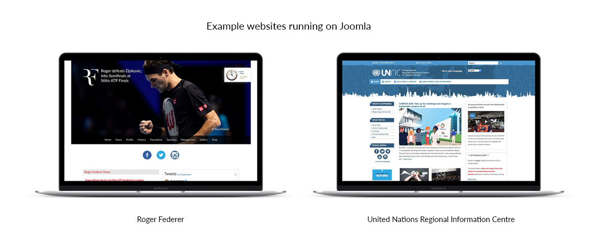 سایت های طراحی شده با سیستم مدیریت محتوای جوملا