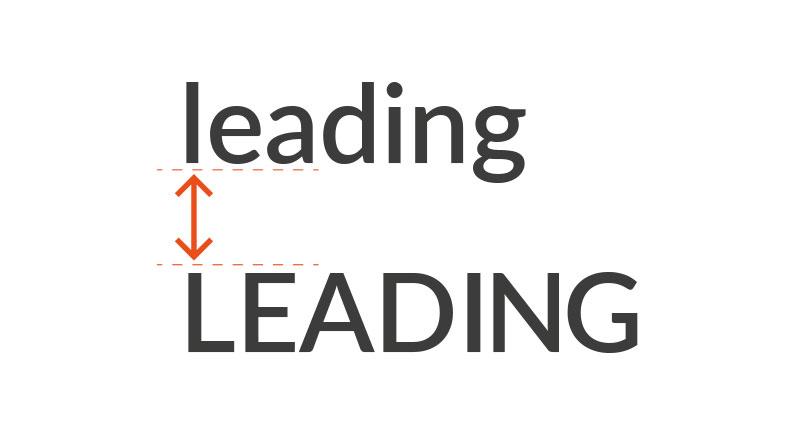 طراحی لوگو تایپوگرافی - لیدینگ