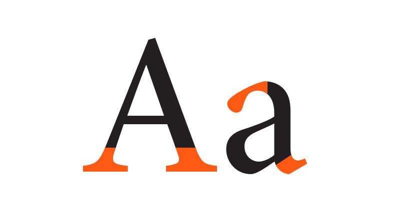 طراحی لوگو تایپوگرافی - serif