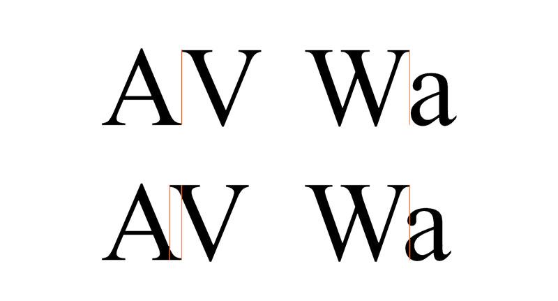 طراحی لوگو تایپوگرافی - ترکینگ و کرنینگ