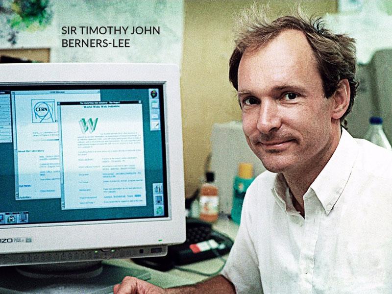 مخترع اولین وب سایت جهان سر تیموتی جان برنرز لی (Sir Timothy John Berners-Lee)