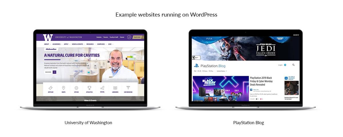 سایت های طراحی شده با سیستم مدیریت محتوای وردپرس