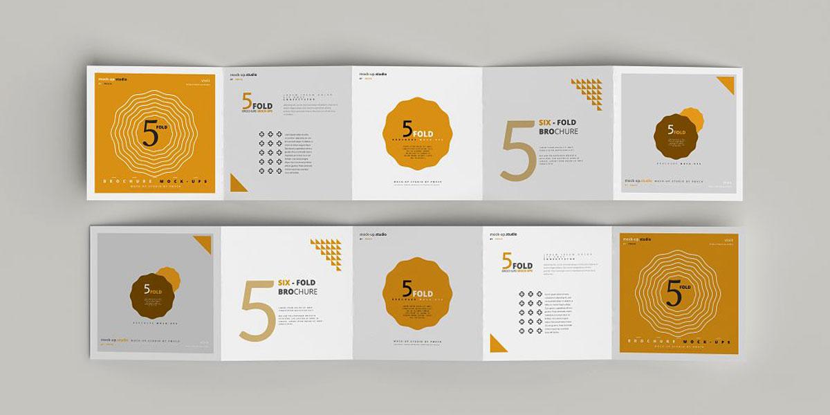 طراحی بروشور تبلیغاتی آکاردئونی
